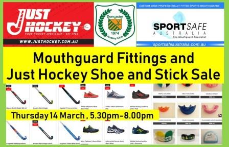 Doncaster Hockey Club :: Fitting Mouthguards, Shoes and Sticks